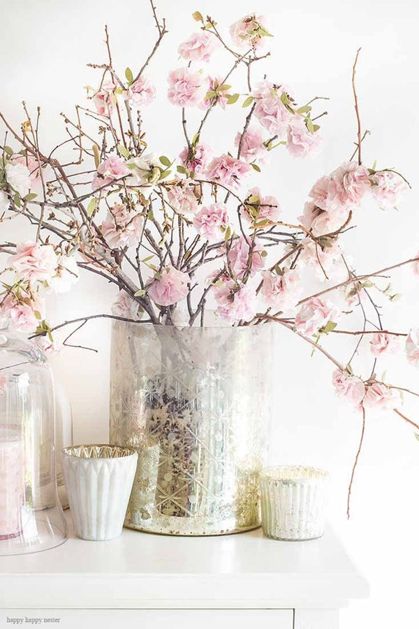 Cherry Blossom Paper Flower Tutorial - DIY Paper Flowers Ideas