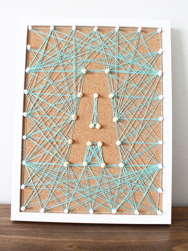 Cork Board String Art - String Art Ideas