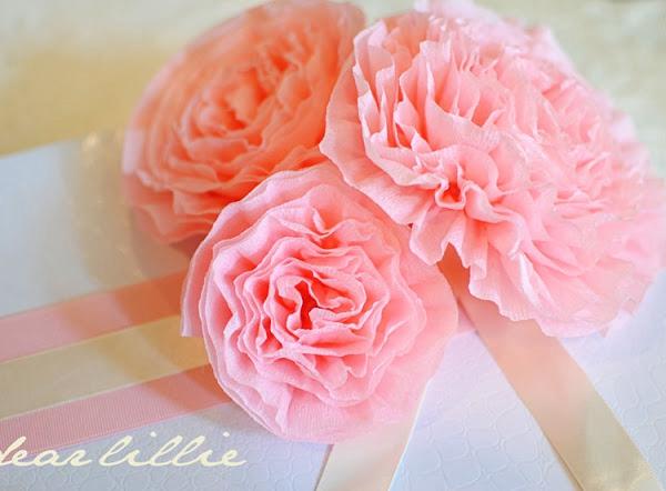 Crepe Paper Peonies - DIY Paper Flowers Ideas
