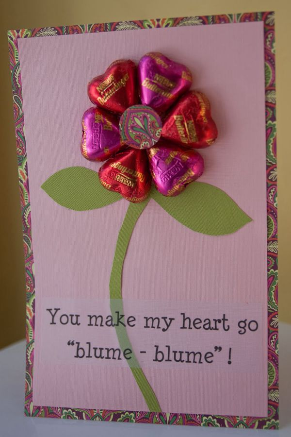 DIY Candy Valentine's Day Cards - DIY Valentine's Day Card Ideas