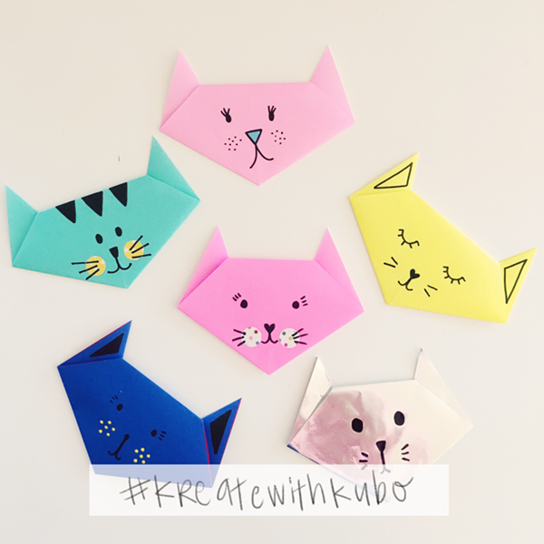 DIY Easy Cute Origami Cats - Toilet Paper Roll Crafts