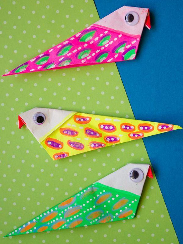 DIY Origami Bird Magnet - Toilet Paper Roll Crafts