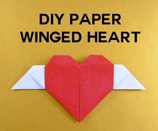 DIY Paper Winged Heart Hidden Message - Toilet Paper Roll Crafts