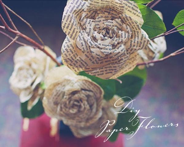 DIY Storybook Paper Roses - DIY Paper Flowers Ideas