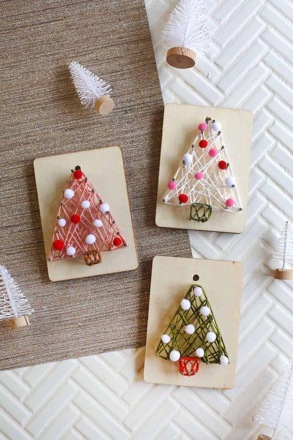 DIY String Art Ornaments - String Art Ideas