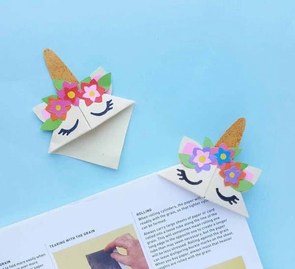 DIY Unicorn Bookmark Craft - Toilet Paper Roll Crafts
