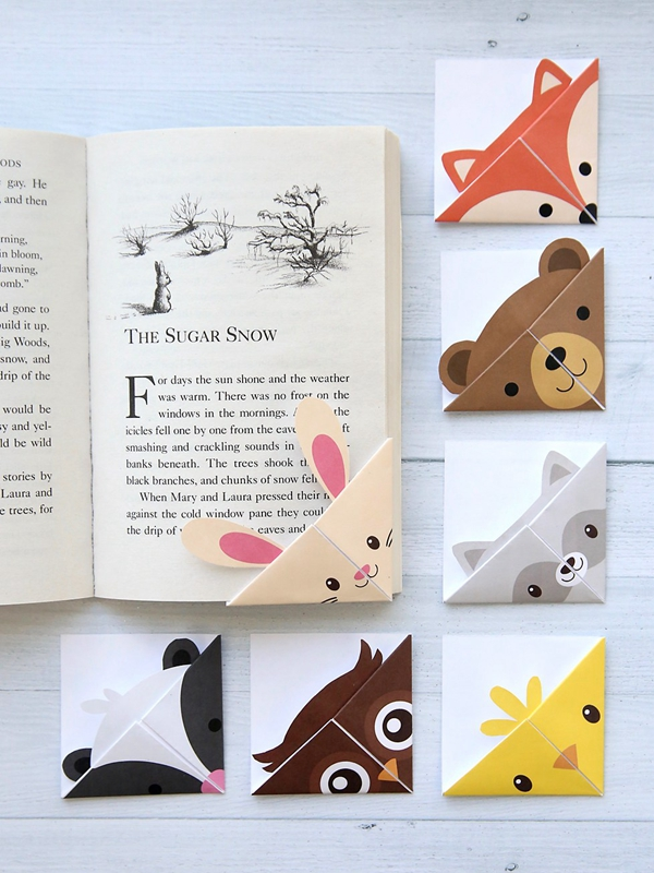 DIY Woodland Animal Bookmarks - Toilet Paper Roll Crafts
