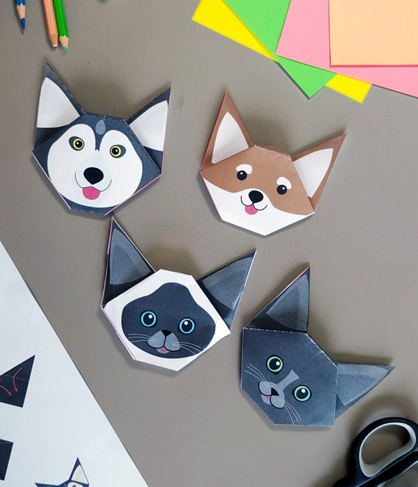 Dog and Cat Origami - Toilet Paper Roll Crafts