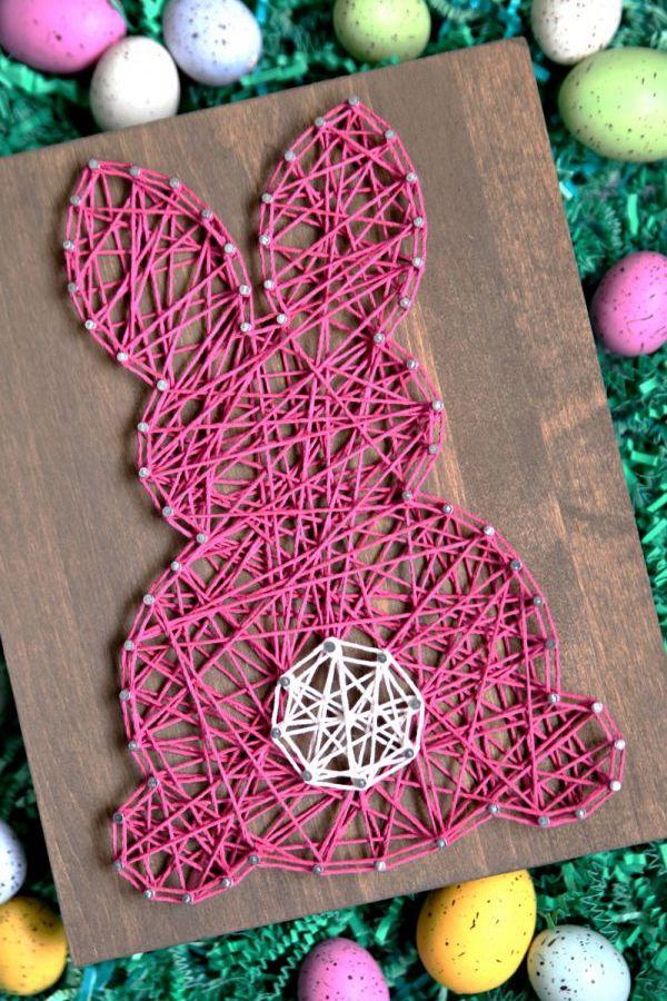 Easter Bunny String Art - String Art Ideas