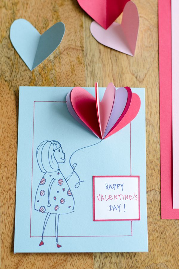 Easy DIY Valentine's Day Folded Hearts - DIY Valentine's Day Card Ideas