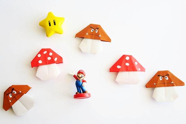 Easy Mario Mushroom Origami - Toilet Paper Roll Crafts