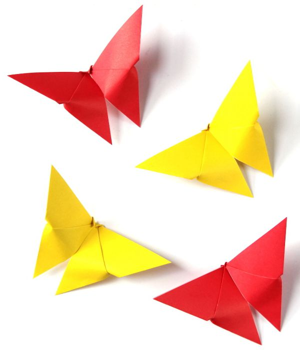 Easy Origami Butterfly - Toilet Paper Roll Crafts