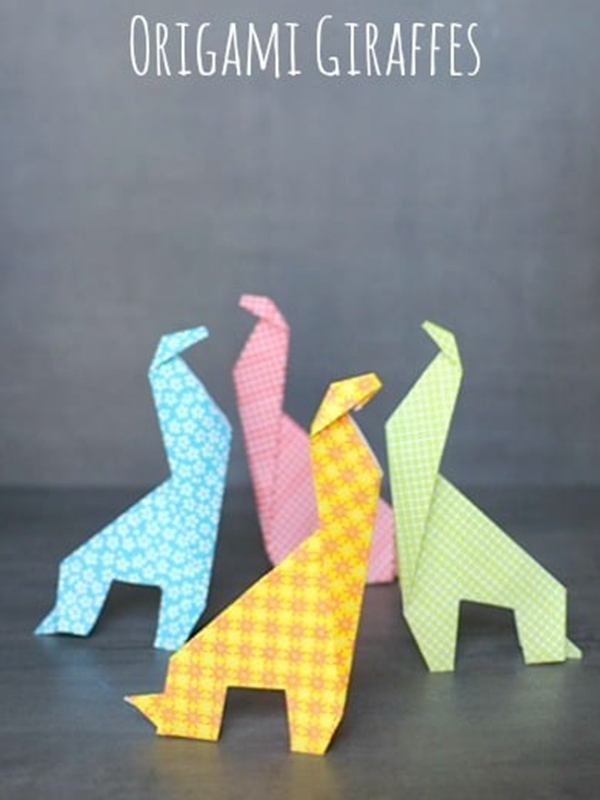 Easy Origami Giraffes - Toilet Paper Roll Crafts