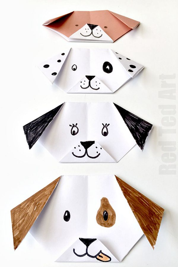 Easy Origami Puppy Dog - Toilet Paper Roll Crafts