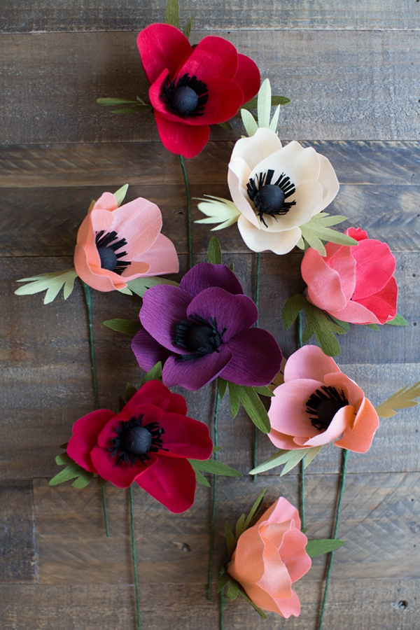 Favorite Crepe Anemone Flower - DIY Paper Flowers Ideas