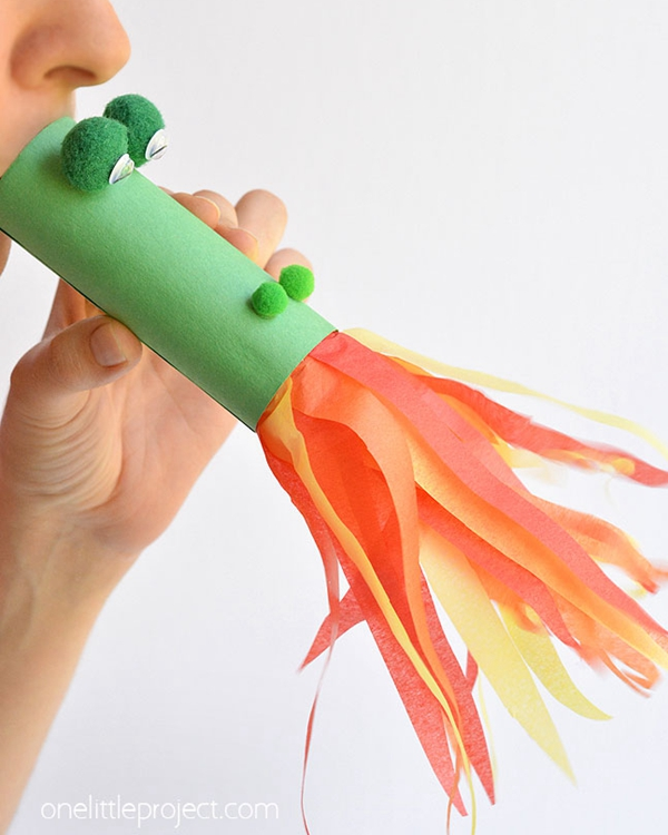 Fire Breathing Dragon Craft - Toilet Paper Roll Crafts