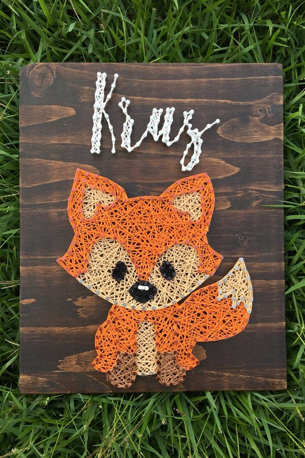 Fox Name String Art Board - String Art Ideas