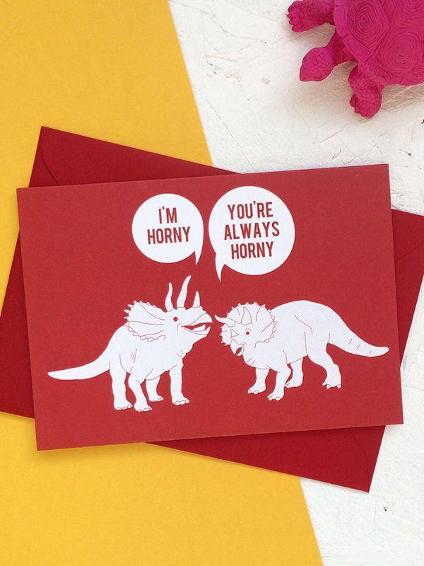 Funny Valentine's Day Card Dinosaur - DIY Valentine's Day Card Ideas