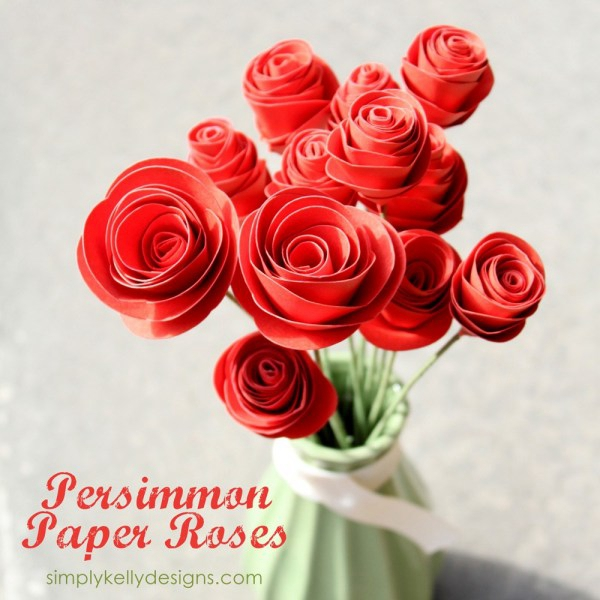 Get Well Bouquet Persimmon Paper Roses - DIY Paper Flowers Ideas
