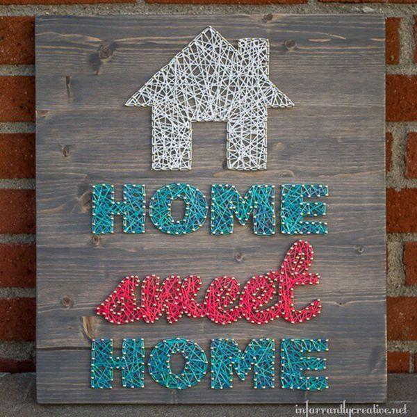 Home Sweet Home String Art - String Art Ideas