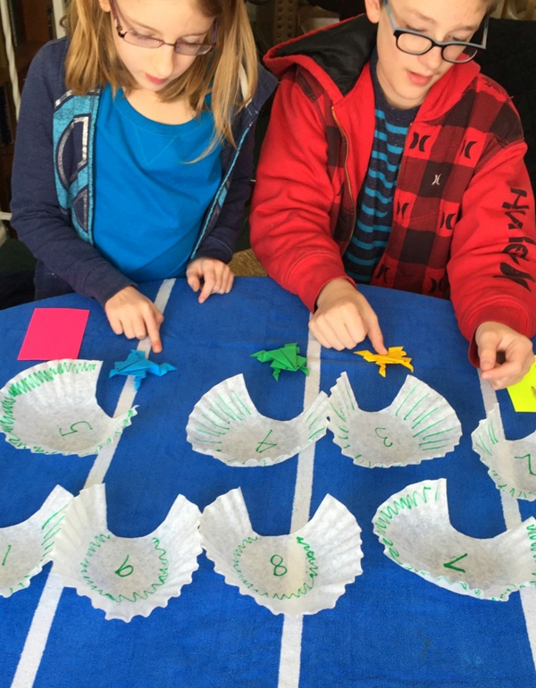 Leap Frog Math Game - Toilet Paper Roll Crafts