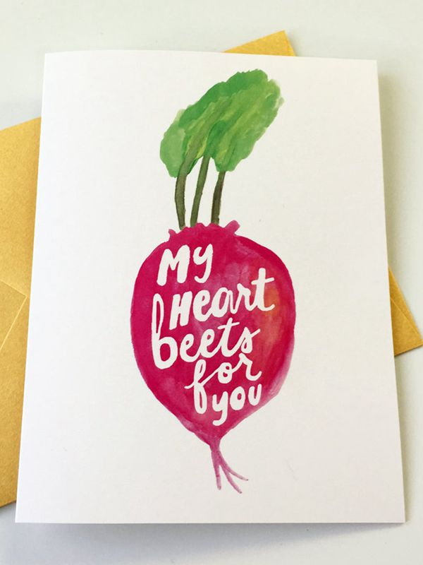 My Heart Beets for You - DIY Valentine's Day Card Ideas