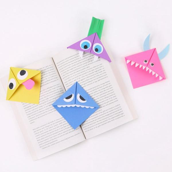 Origami Corner Bookmark - Toilet Paper Roll Crafts