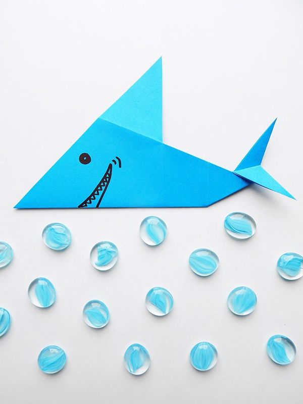 Origami Shark - Toilet Paper Roll Crafts