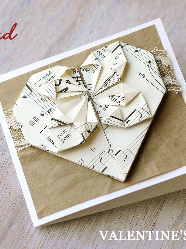 Origami Valentine's Day Card - DIY Valentine's Day Card Ideas