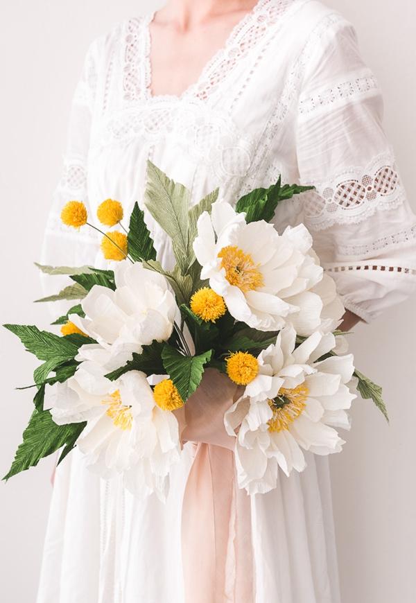 Paper Flower Wedding Bouquet - DIY Paper Flowers Ideas