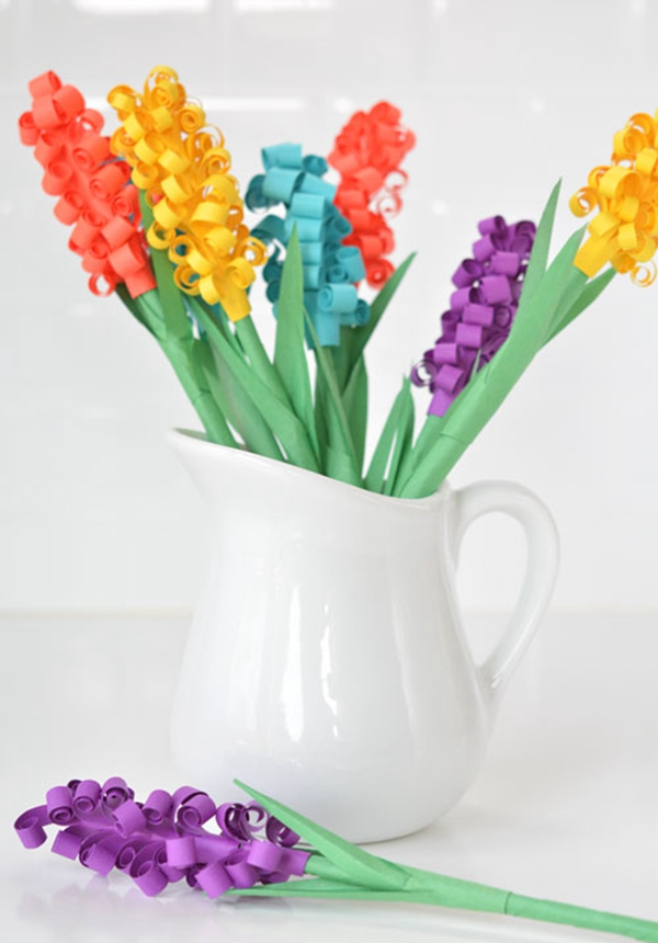 Paper Hyacinth Flowers - DIY Paper Flowers Ideas
