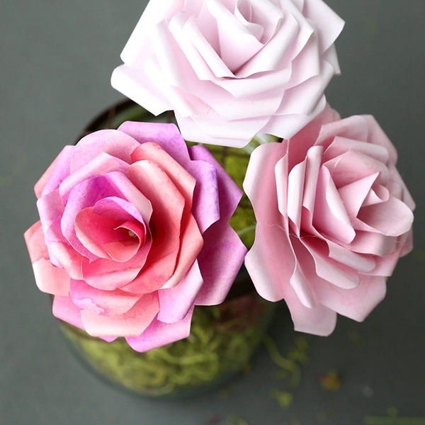 Paper Roses - DIY Paper Flowers Ideas