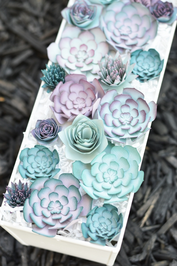 Paper Succulent Centerpiece - DIY Paper Flowers Ideas