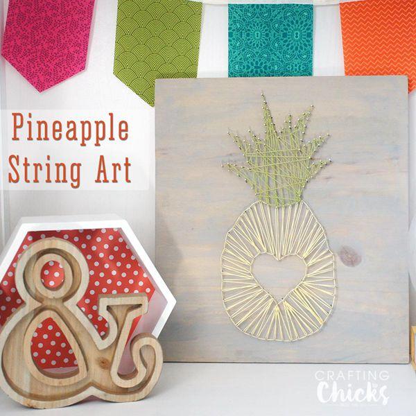 Pineapple String Art - String Art Ideas