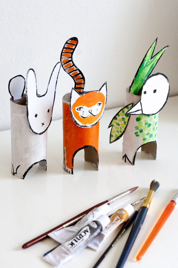 Recycle Cardboard Animals - Toilet Paper Roll Crafts