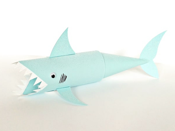 Shark Paper Tube Craft - Toilet Paper Roll Crafts
