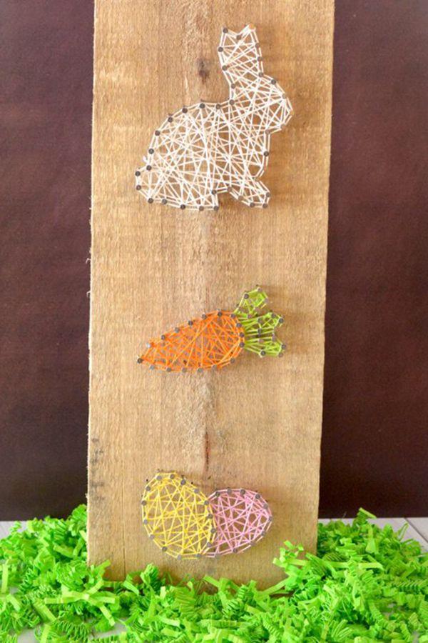 Spring Easter Bunny String Art Craft - String Art Ideas