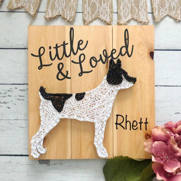 String Art Customizable Dog - String Art Ideas
