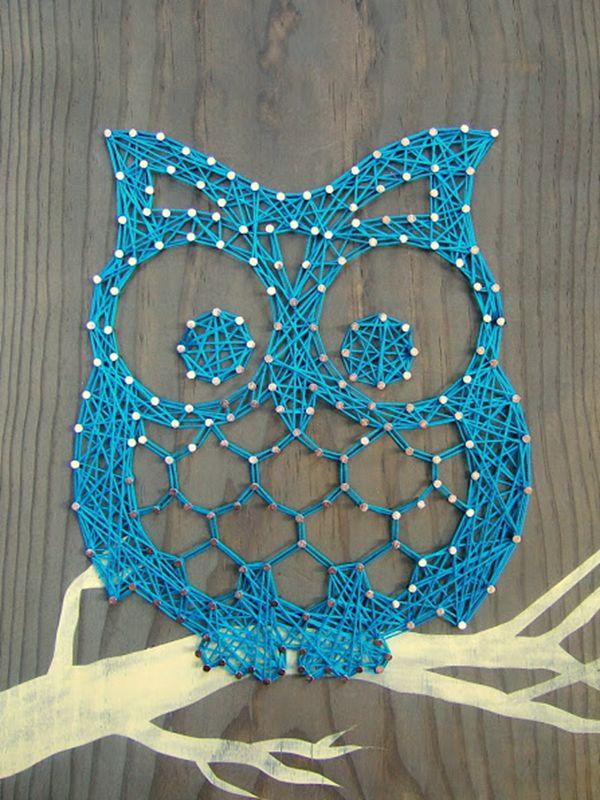 String Art Otis Owl - String Art Ideas