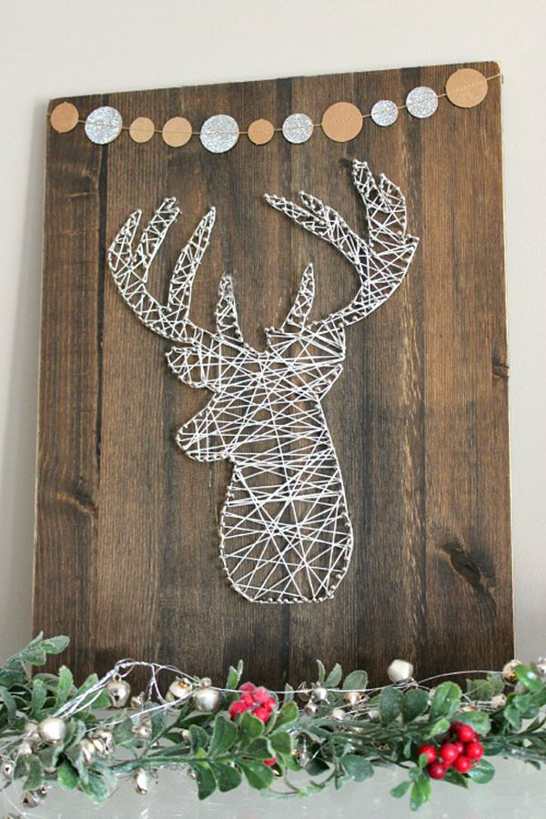 String Art Reindeer - String Art Ideas