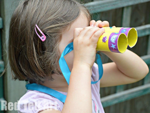 TP Roll Binocular Poppy Cat - Toilet Paper Roll Crafts