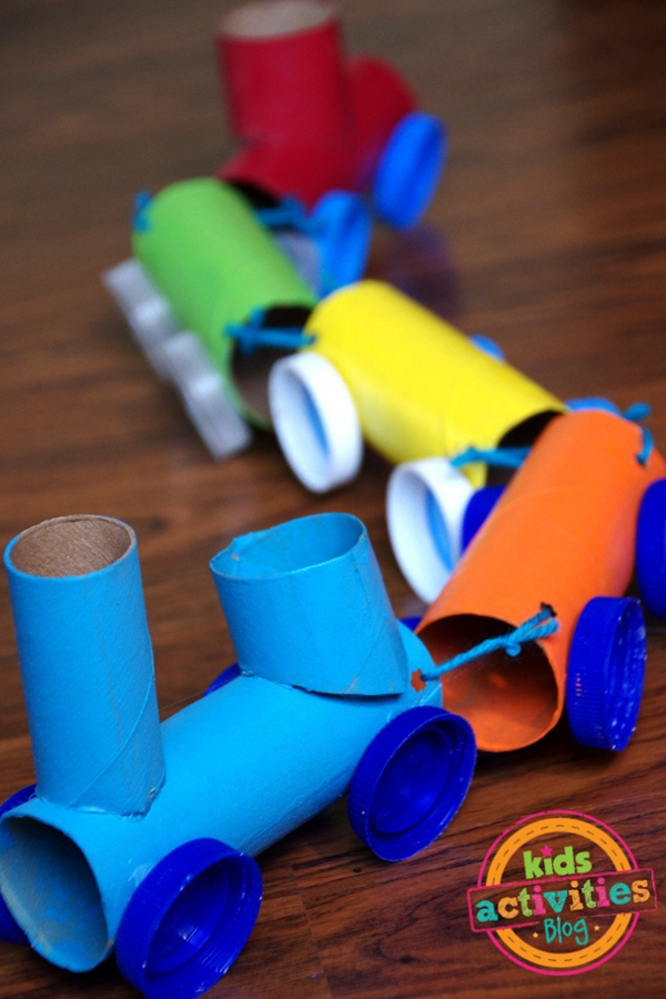 Toilet Paper Roll Train Craft - Toilet Paper Roll Crafts