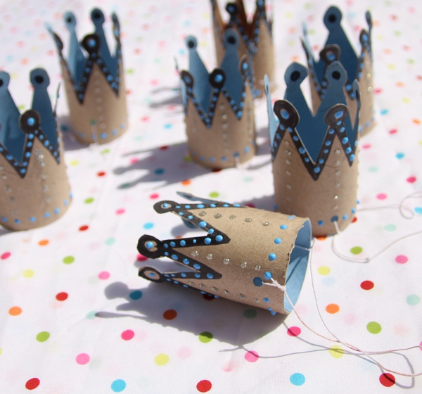 Toilet Roll Birthday Crowns - Toilet Paper Roll Crafts