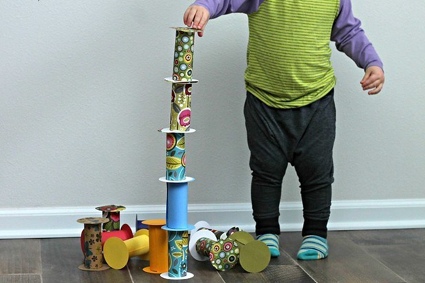 Toilet Roll Building Blocks - Toilet Paper Roll Crafts