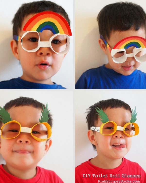 Toilet Roll Glasses - Toilet Paper Roll Crafts
