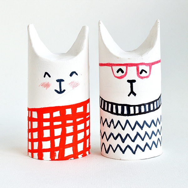 Toilet Roll SophistiCats - Toilet Paper Roll Crafts