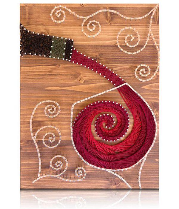 Wine String Art Kit - String Art Ideas