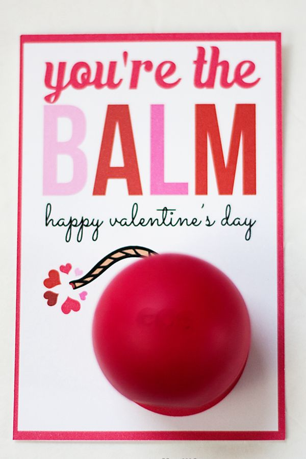 You're The Balm Valentine's Day Card - DIY Valentine's Day Card Ideas